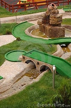 Build a mini golf course and enjoy it, either together or with friends