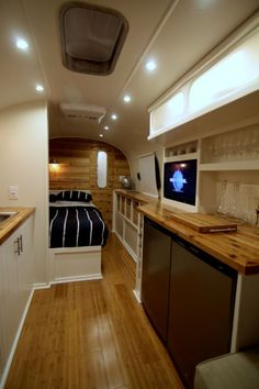 wood counters...goes well with white walls