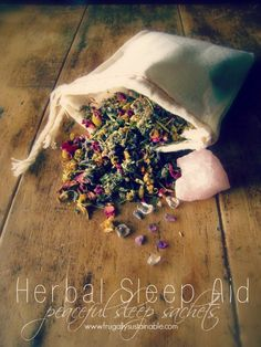 How to make your own peaceful sleep sachets using herbs essential oils and crystals. Anise – Repels nightmares, but be sure to use sparingly (purchase anise star pods here). Calendula Flower – Used to induce restful sleep (purchase calendula flowers here). Catnip – Increases restful sleep. Especially good for babies and children (purchase catnip here). Cedar Leaf Tips – Repels bad dreams (purchase cedar leaf tips here). Chamomile Flowers – Used for relaxation and pleasant dreams (purchase ch