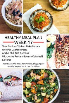 Healthy Meal Plans Week 17 - Slender Kitchen