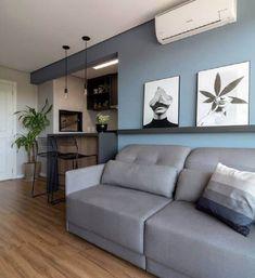 Home Design Decor, House Design, Home Decor, Blue Accent Walls, Sofa Home, Interior Decorating, Interior Design, Decoration, Living Room Decor