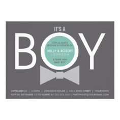 Modern BOY Baby Shower Invitations - Click the pic to personalize your own.
