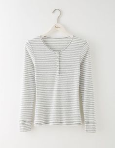 Boden Cosy Jersey Top Grey Marl/Ivory Sparkle Women With a pretty pointelle design and button placket, this cosy sleepwear top is smart enough to wear around the house. But make no mistake: its snuggly fabric is made for snoozing. Mix and match with ou http://www.MightGet.com/april-2017-1/boden-cosy-jersey-top-grey-marl-ivory-sparkle-women.asp