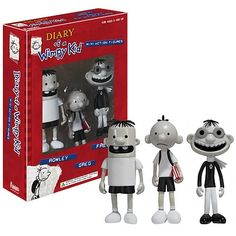 Diary of a Wimpy Kid figures Rowley Jefferson, Big Kids, Cool Kids, Wimpy Kid Books, Kid Memes, Cute Toys, 8th Birthday, Angry Birds, My Boys