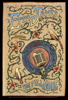 Etta James @ the Filmore. #gigposters #music #musicart http://www.pinterest.com/TheHitman14/music-poster-art-%2B/