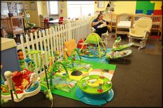 infant classroom... I like the fence idea to separate movers and non movers.