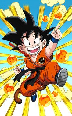 """[Into the Big Wide World] Goku (Youth) """"I want to get even stronger! Dragon Ball Gt, Goku Drawing, Ball Drawing, Kid Goku, Wallpaper Do Goku, Dragonball Wallpaper, Mobile Wallpaper, Dragon Birthday, Pikachu"""