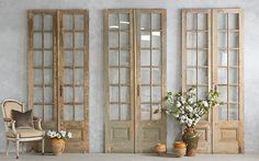 antique barn doors with glass for interior - Google Search