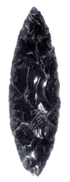Obsidian Raw Stone, Natural Volcanic Glass BIN-0232 Approx 1-1 12 long Found in Utah