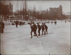 1894 Skating, Central Park.