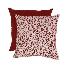 Flocked Damask 23-inch Floor Pillow | Overstock.com