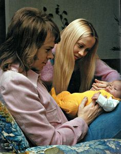Agnetha and Bjorn with litle Linda