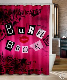 Mean Girls Burn Book Cover Style Shower Curtain
