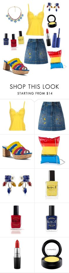 """Primary colors"" by angelina-vanessa ❤ liked on Polyvore featuring Dolce&Gabbana, Alice + Olivia, Nine West, Anya Hindmarch, Halo & Co., Lauren B. Beauty and MAC Cosmetics"