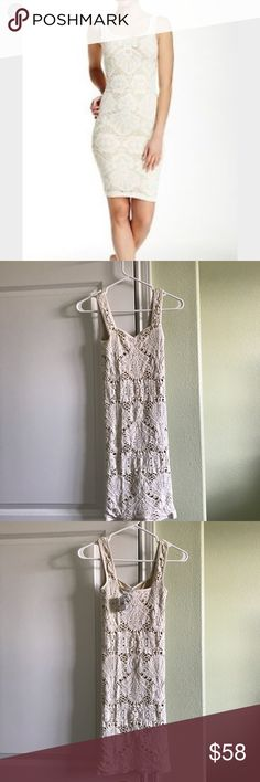 Free People Turtle Dove Combo NWT Medallion Cutout Fully Lined nude color Body Conscious Slip Dress V Neckline Nylon/Spandex Brand new never worn Free People Dresses Mini