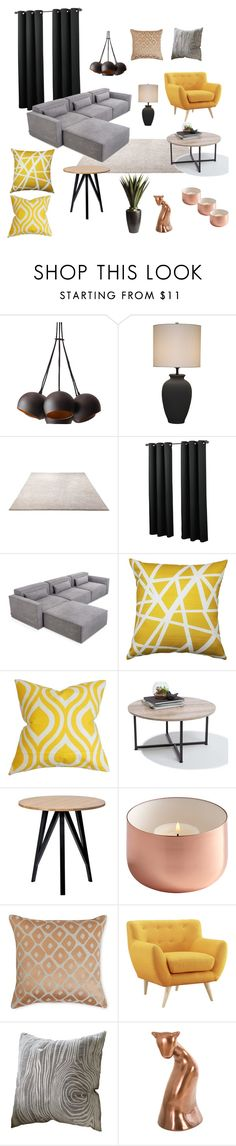 """Bft-2355"" by arvai-andrea on Polyvore featuring interior, interiors, interior design, home, home decor, interior decorating, ESPRIT, Gus* Modern, Pillow Decor and The Pillow Collection"