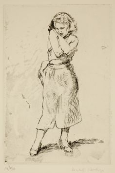 Isabel Bishop / Sweet Sixteen / etching / Union Square / New York / Teller 49a / Eight Etchings, 1930--1959 / printmaking / drawing / art / decor/ young woman / teen