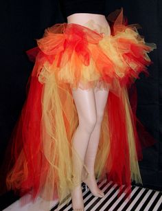 """An idea for a """"Girl on Fire"""" Halloween costume. This could be the flames on the bottom of the skirt!"""