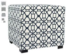 This ottoman features a wooden frame covered with a chic fabric that will stand out in your home - Blue Ottoman, Furniture, Mattress Furniture, Steel Furniture, Kids Furniture, Tufted Ottoman, Tufting Buttons, Tufted, Furniture Design