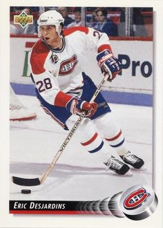 Eric Desjardins : Repêché en deuxième ronde (38e choix au total) de la séance de repêchage de 1987 par le Canadien de Montréal, Desjardins joue brièvement pour les Canadiens de Sherbrooke avant de se joindre au grand club au cours de la saison 1988-1989. Le 9 février 1995, Éric Desjardins est échangé aux Flyers de Philadelphie en compagnie de ses coéquipiers John Leclair et Gilbert Dionne en retour de March Recchi et d'un choix de troisième ronde au repêchage de 1995.