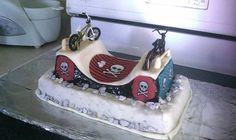 BMX half pipe cake