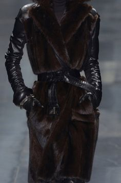 Mink and leather - great combination.