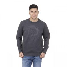 Color: Grey Size: L Made of: 66% PL + 29% VI + 5% EA Details: 00SJCI 0EAKS 96X – Color: Grey – Composition: 66% PL + 29% VI + 5% EA – Made: TURKEY- Round Neck – Zip Closure – Front Logo – Long Sleeve