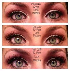 Mabeline vs. One and Two coats of 3D Mascara, there is no comparison!!! Have a Younique on-line Party and earn FREE Younique Products. Younique all natural mineral makeup. Shop here: #beauty, #younique #mineralmakeup https://www.youniqueproducts.com/Jess