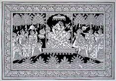 Kalyan Joshi - Ganesha Durbar @ Phad Chitra : Soul of Rajasthan Ganesha Art, Madhubani Art, Madhubani Painting, Traditional Paintings, Traditional Art, Rajasthani Art, Rajasthani Painting, Phad Painting, Art Paintings