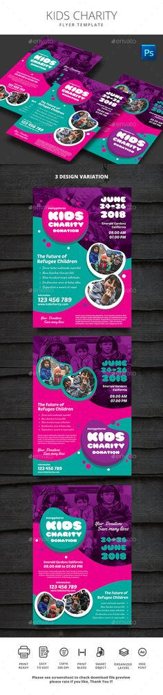 #Kids Charity - #Events #Flyers