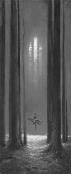 Art and Faith Konstantin Vasiliev. Forest Gothic. 1973