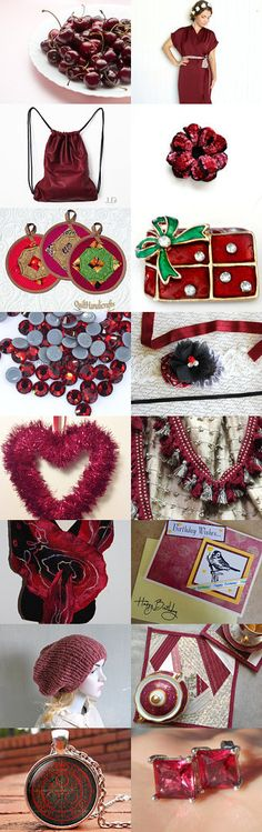 Collection of cherry color by Olya Sokolenko on Etsy--Pinned with TreasuryPin.com