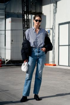The Best Street Style Looks From Milan Fashion Week Fall 2020 - Fashionista Milan Fashion Week Street Style, Looks Street Style, Autumn Street Style, Cool Street Fashion, Casual Street Style, Daily Fashion, Fitness Fashion, Ootd Fashion, Blazers