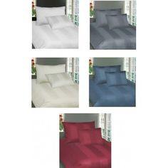 Bettwäsche Satin Uni Weiss, grau, off weiss, blau oder Rot