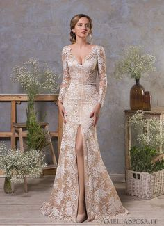 For the classic brides who adore traditional, romantic silhouettes just as much as we do, we've got the perfect wedding dress inspiration for you! These Amelia Sposa wedding dresses are just remarka. Amelia Sposa Wedding Dress, Perfect Wedding Dress, Wedding Dress Styles, Dream Wedding Dresses, Bridal Dresses, Wedding Gowns, Bridesmaid Dresses, Prom Dresses, Wedding Shoes