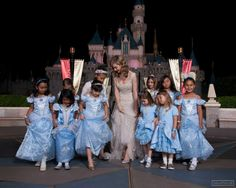 Lily James with all the Cinderellas <3