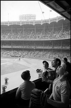 Yankee Stadium, 1962    Bronx, New York    Photo by Inge Morath via bygoneamericana  - Kenny Powers