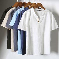 Men Cotton Linen T-Shirt 2017 New Retro Short Sleeved Fashion Slim Casual T-Shirt Men Street Wear Tops Plus Size 5XL Hot Sale