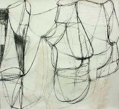 Deborah Dancy, Object Lesson 2 2015, acrylic, charcoal on paper