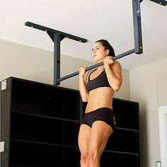 Stud Bar :: Easily installed Ceiling or Wall-mounted Pull-Up BarYou can find Pull up bar and more on our website.Stud Bar :: Easily installed Ceiling or Wall-mounted Pull-Up Bar Garage Pull Up Bar, Diy Pull Up Bar, Home Gym Garage, At Home Gym, Workout Room Home, Workout Rooms, Pilates Studio, Pilates Reformer, Gym Resistance Bands