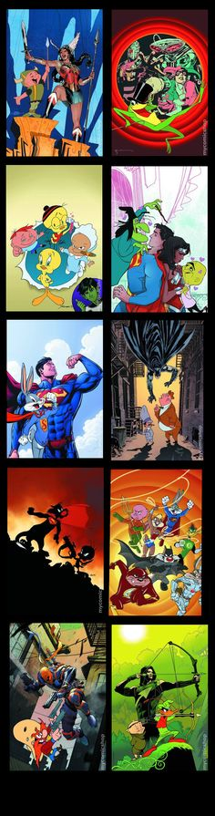 Dc comics Looney Tunes Variant Covers January 2016