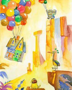 Up Pixar, Disney Pixar Cars, Paradise Falls, Disney Love, Scene, Crafty, Wallpaper, Disney Characters, Prints