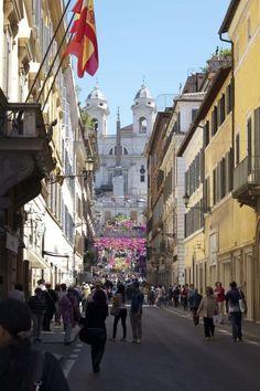 Via Condotti, Roma. Where all the expensive designer stores are.