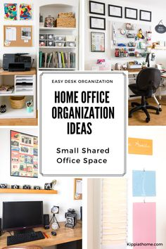 Working in an organized home office increases efficiency. It can also decrease stress and burnout. Desk organization, file storage, and more. Learn how to organize your home office on a budget. #office #deskorganization #kippiathome