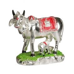 Get Online Big Cow&Calf Sterling silver at Puja Shoppe. Product code - 17006. Product Price: Rs. 2,999. Stock Available. Delivered in 3-4 Business Day. Shop now: https://www.pujashoppe.com/big-cow-calf-sterling-silver.html?___SID=U