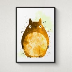 Totoro, My neighbor Totoro, Alternative Poster, Watercolor Painting, Archival Fine Art, Home Wall Decor, Giclee Print,