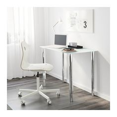 GLASHOLM Table top - glass/white - IKEA