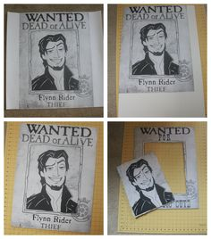 EAT+SLEEP+MAKE: PARTY: Wanted Poster Photo Booth {Tangled Birthday Party}