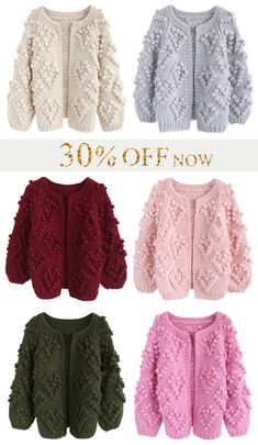 30% OFF On Sale Now! Knit Your Love Cardigan in 6 Colors