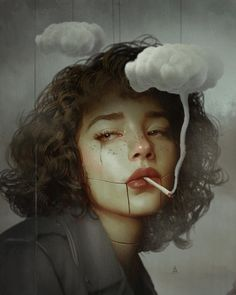 Dreaming Surreal Illustrations By Turkish Artist Aykut Aydogdu A variety of the newest examples by Aykut Aydogdu, likely one of my favorite illustrators. The Turkish artist and graphic designer Aykut Aydogdu, based in Istan Art Sketches, Art Drawings, Drawing Portraits, L'art Du Portrait, Self Portrait Artists, Artistic Portrait, Wow Art, Aesthetic Art, Art Pictures
